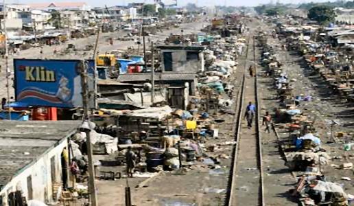Aba niger City Rail track in Aba Ngwa leading